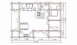 Two Floors Hytte. Plan
