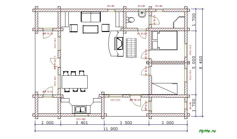 Two Floors hytte plan